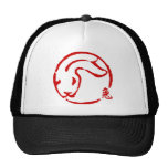 Abstract Chinese New Year of The Rabbit Mesh Hat
