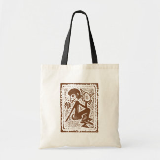 Abstract Chinese Zodiac Monkey Tote Bag