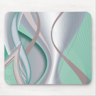 Abstract Chocolate Mint Tornado Mouse Pad
