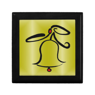Abstract Christmas Bell Jewelry Box