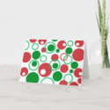 Abstract Christmas Cards card