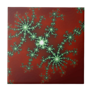 Abstract Christmas Colors Ceramic Tiles