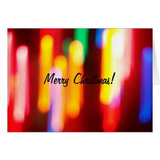 Abstract Christmas Lights Card