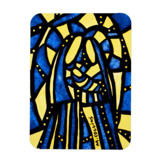 Abstract Christmas Nativity Jesus Mary Joseph Xmas Magnet