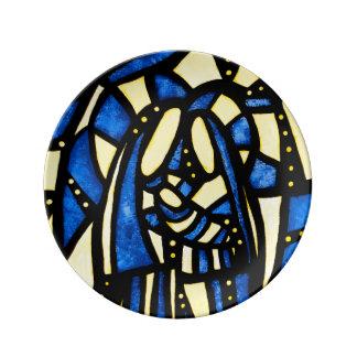 Abstract Christmas Nativity Jesus Mary Joseph Xmas Porcelain Plate
