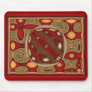 Abstract Christmas Orb Mouse Pad