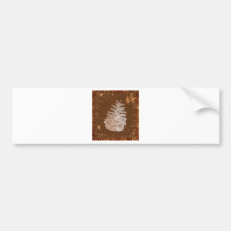 Abstract Christmas Pinecone Bumper Sticker
