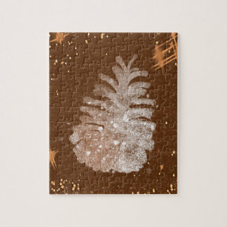 Abstract Christmas Pinecone Jigsaw Puzzle