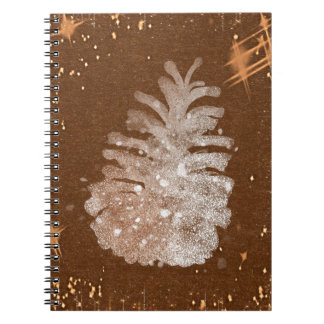 Abstract Christmas Pinecone Notebook