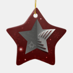Abstract Christmas Star Background Ceramic Ornament at Zazzle