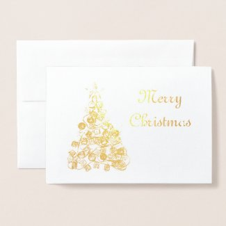 Abstract Christmas Tree (Foil) Greeting Card