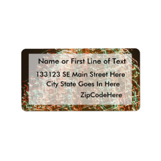 Abstract Christmas Tree Lights , black background Address Label