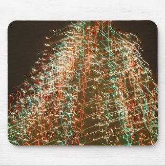 Abstract Christmas Tree Lights , black background Mouse Pad