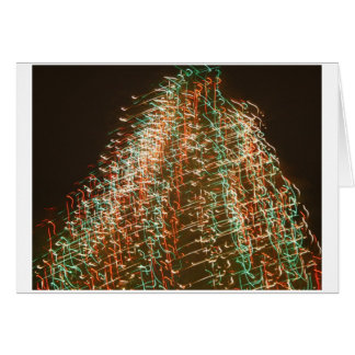 Abstract Christmas Tree Lights , black background Stationery Note Card