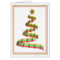 Abstract Christmas Tree Party Invitation Template