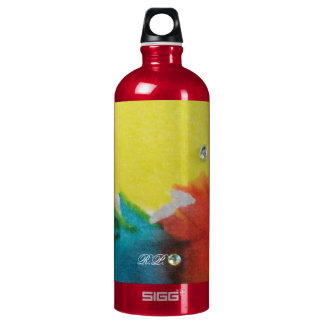 Abstract Circle Aluminum Water Bottle