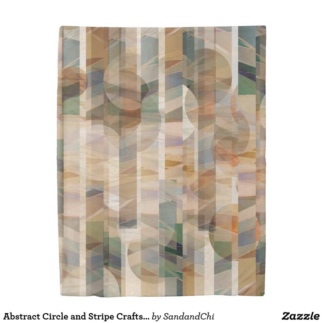 Abstract Circle and Stripe Craftsman Reversible