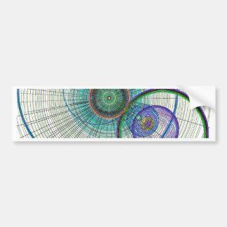 Abstract Circle art Bumper Sticker