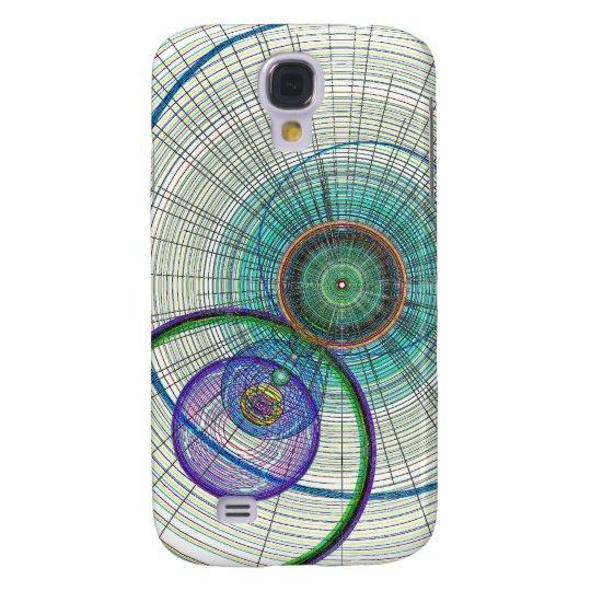 Abstract Circle art Galaxy S4 Cover