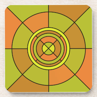 Abstract Circle Coaster (Square)