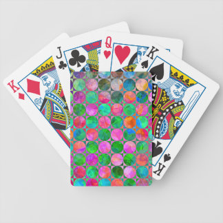 Abstract Circle Connect the Dots Bicycle Playing Cards