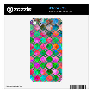 Abstract Circle Connect the Dots Skins For The iPhone 4