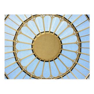 Abstract circle design postcard