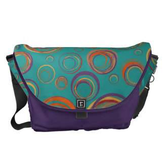 Abstract Circle Doodle Design Messenger Bag