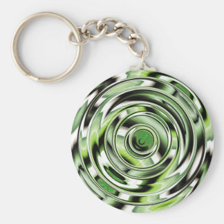 Abstract circle green designed by Tutti Key Chain
