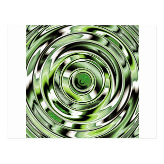 Abstract circle green designed by Tutti Postcard