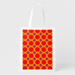 ABstract circle Grocery Bag