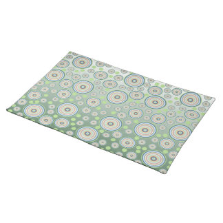 Abstract Circle Pattern Cloth Placemat