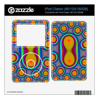 Abstract circle pattern decal for iPod