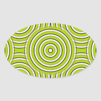 Abstract circle pattern oval sticker