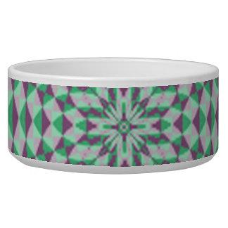 Abstract Circle Pattern Pet Food Bowls