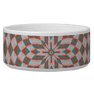 Abstract Circle Pattern Pet Food Bowl