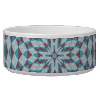 Abstract Circle Pattern Pet Water Bowls