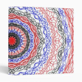 Abstract Circle Pattern Vinyl Binder