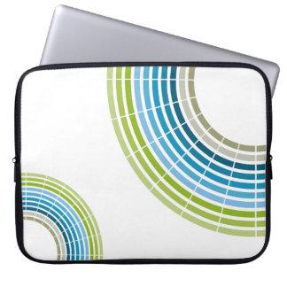 Abstract circle rainbow computer sleeve