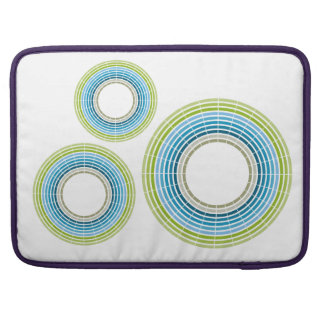 Abstract circle rainbow sleeve for MacBook pro