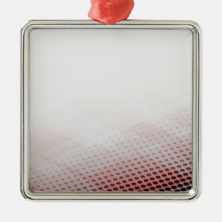 Abstract Circle & Rhombus Background Metal Ornament