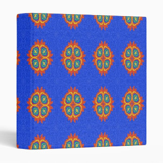 Abstract circle shape on blue background binder