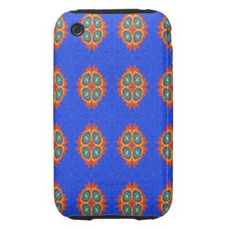 Abstract circle shape on blue background iPhone 3 tough case