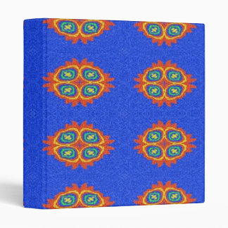 Abstract circle shape on blue background vinyl binder