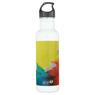 Abstract Circle Stainless Steel Water Bottle