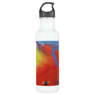 Abstract Circle Water Bottle