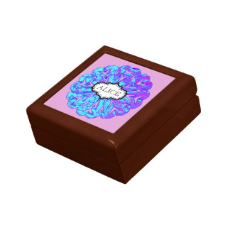 ABSTRACT CIRCLE WYCINANKI KEEPSAKE BOX