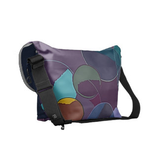 Abstract Circles and Rings Courier Bag