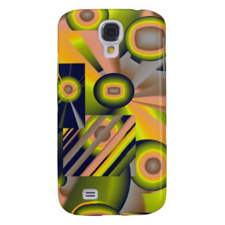 Abstract circles and squares IPhone 3G Case Galaxy S4 Cases