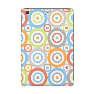 Abstract Circles Big Pattern Color Mix & Greys iPad Mini Cover